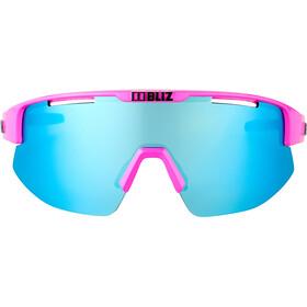 Bliz Matrix M12 Lunettes, shiny pink/brown with blue multi